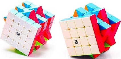 D ETERNAL Rubiks Rubix Cube Combo of QiYi QiYuan S 4x4 & QiYi QiZheng 5x5 high Speed stickerless Magic Rubic Puzzle Cube