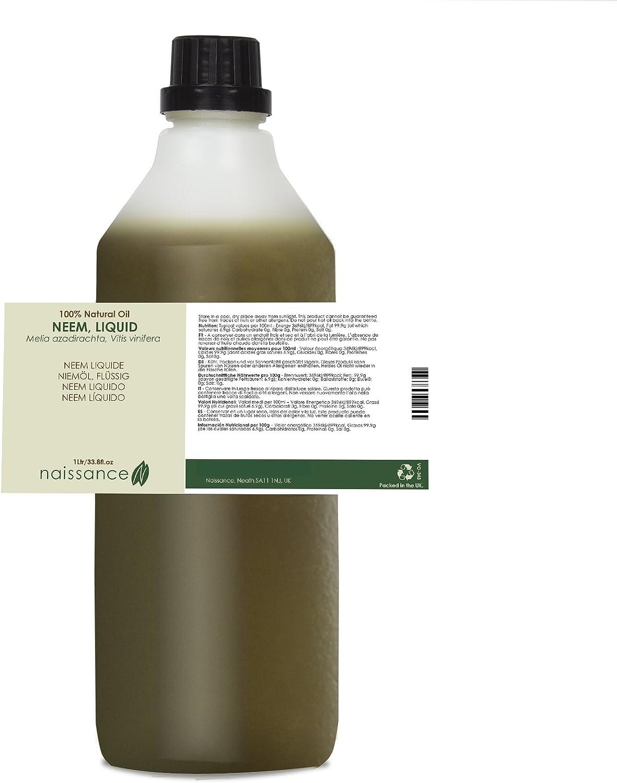 Neem Líquido - Aceite Vegetal Prensado en Frío 100% Puro- 1Litro ...