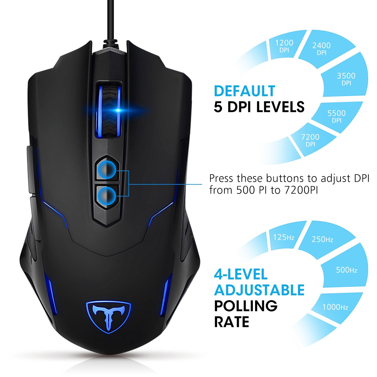 Most Sold Gaming Mouse: Pictek Gaming Mouse Wired