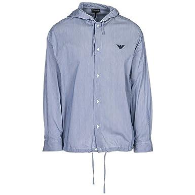 Emporio Armani Chemise Homme Riga blu L  Amazon.fr  Vêtements et accessoires 9d66b224055