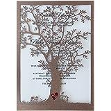 Rustic Tree Wedding Invitation, Laser Cut Tree Invitations, Printable Wedding  Invitation Cards  Pack