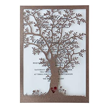 Rustic Tree Wedding Invitation, Laser Cut Tree Invitations, Printable Wedding  Invitation Cards  Pack Gallery