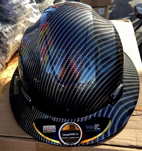 Fiberglass Hard Hat Black/silver ( Cool Air Flow)