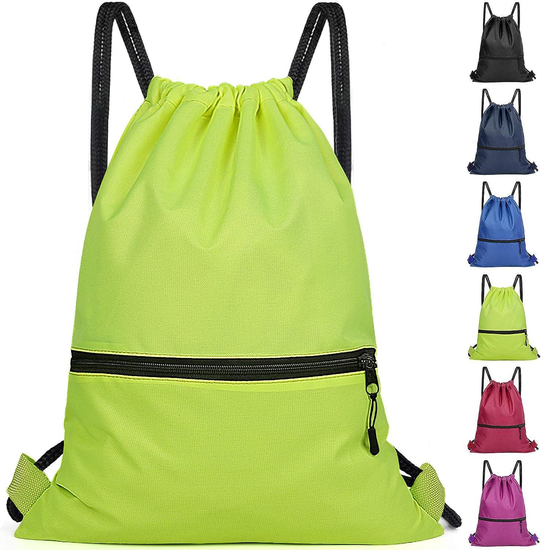 Drawstring Backpack Bag for Men Women Kids - Great for Yoga, Travel, Hiking, Beach Bags - 12 Colors