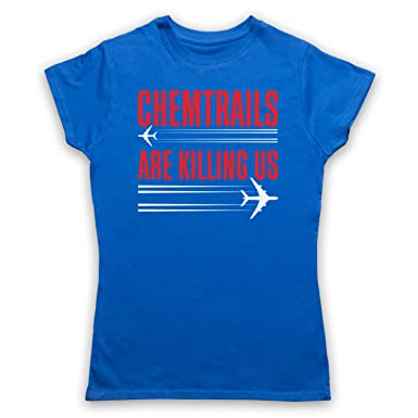 Chemtrails Are Killing Us Protest Damen T-Shirt, Blau, Small