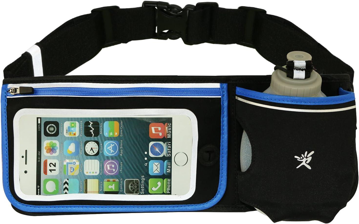 IVIM Hydration Running Belt, Neoprene Waterproof Running Gear Belt Fitness Belt – Fits iPhone 6 Plus – with BPA Free Water Bottle