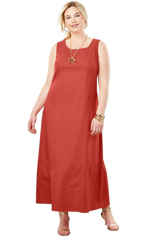 Jessica London Women\'s Plus Size Tall Denim Maxi Dress