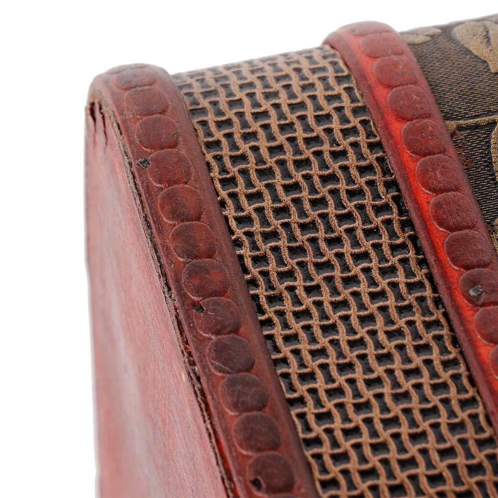 Pongnas Bo/îte /à Bijoux en Bois avec Serrure /à Code et Bague de Rangement pour Collier de Bijoux Grande Taille