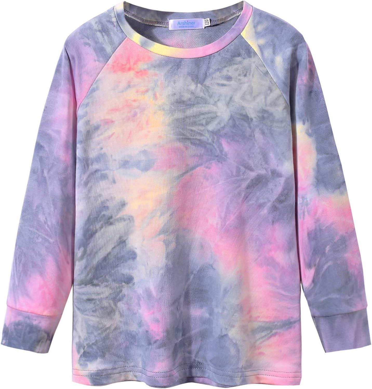 Arshiner Girls Casual Tie Dye Crewneck Long Sleeve Sweatshirt for 4-12 Years