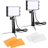 Emart 60 LED Continuous Portable Photography Lighting Kit w/Color Filters
