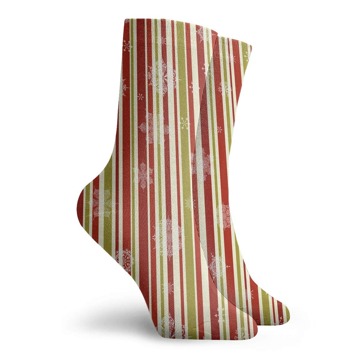 YIEOFH Snowflake Snowflake Bells Christmas Tree Novelty Boys Girls Fashion Cute Funny Casual Art Crew Socks