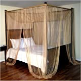Epoch Hometex Palace Four-Poster Bed Canopy Gold & Amazon.com: Mombasa Majesty Sand Elegant Draped Canopy Mosquito ...
