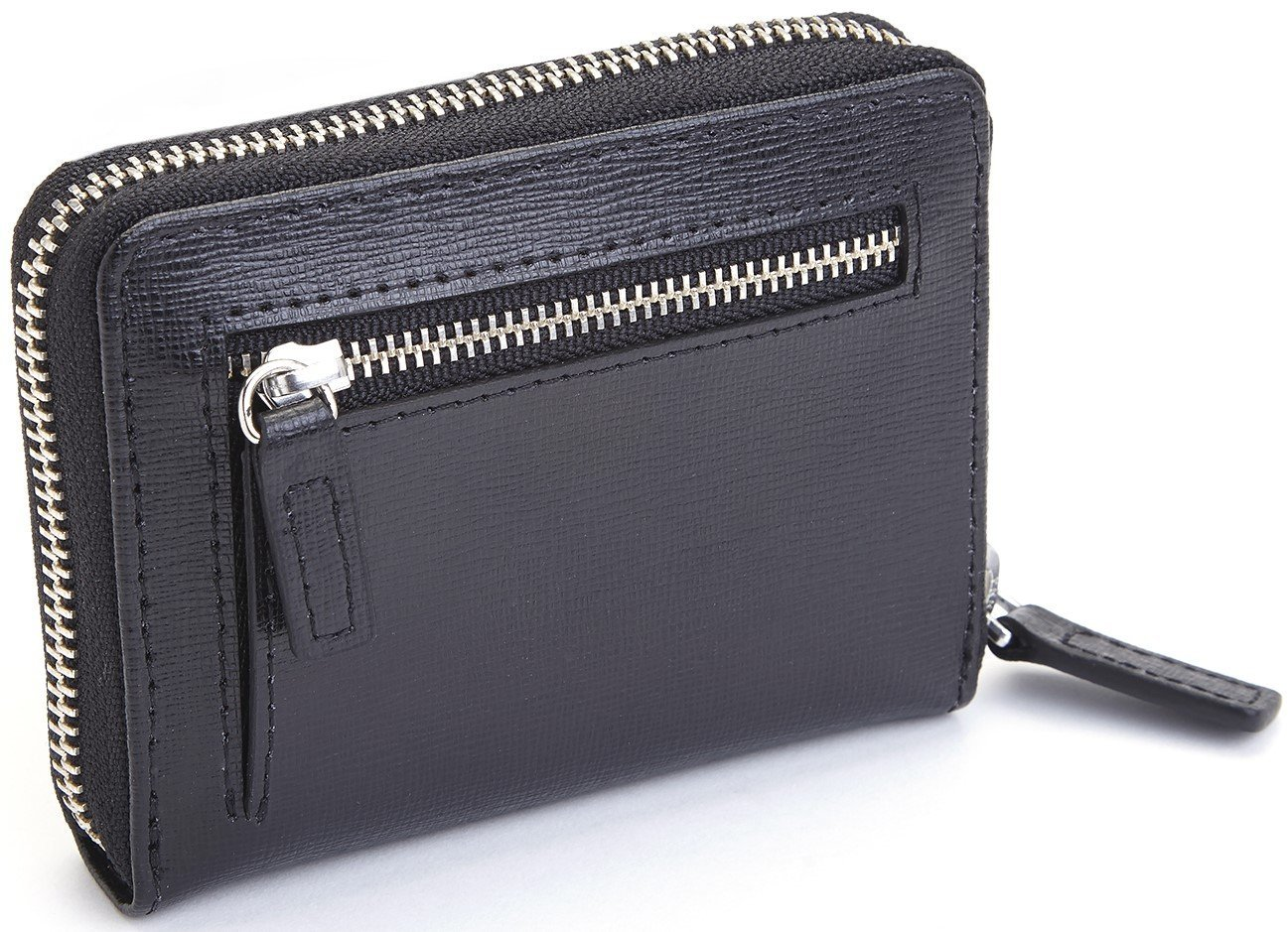 DBA Royce Leather RFID-168-BLK-2 Black EMPORIUM LEATHER Royce Leather RFID Blocking Mini Fan Wallet in Saffiano Leather