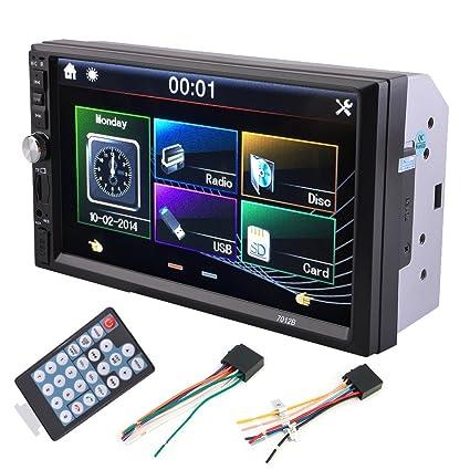 amazon com blackpoolfa 2 din 7 inch tft touch screen car stereoblackpoolfa 2 din 7 inch tft touch screen car stereo bluetooth mp5 mp3 player 7012b