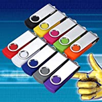Echte capaciteit - (10 Pack) USB Flash Drive Memory Stick Pen Jump U Disk, 1 GB, 4 GB, 8 GB LOT 10 PACK - 1GB Multi…