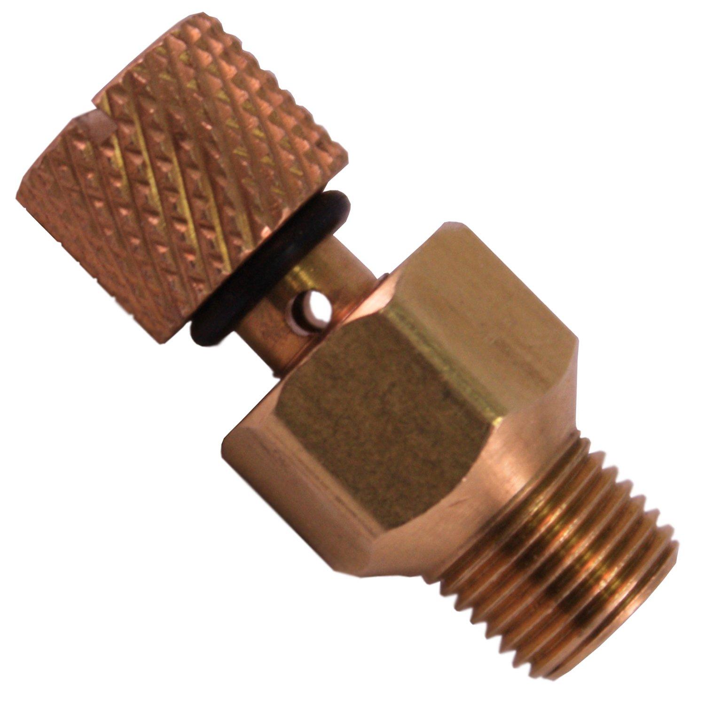 LASCO 15-4179 Universal Bleed-Off Screw Adatper, Brass
