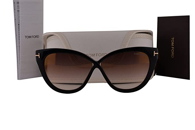 ed47b06d31 Tom Ford FT0511 Arabella Sunglasses Black w Brown Mirror Lens 05G TF511   Amazon.co.uk  Clothing