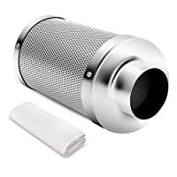 iPower GLFILT4M Air Carbon Filter and Odor Control with Australia Virgin Charcoal for Inline Fan