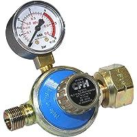 CFH 52115 propaanregelaar, manometer, propaandrukregelaar 1-4 bar/DR 115, blauw/goud