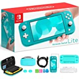 """Newest Nintendo Switch Lite, Turquoise Game Console, 5.5"""" 1280x720 Touchscreen Display, Built-in Control Pad, 802.11ac WiFi,"""