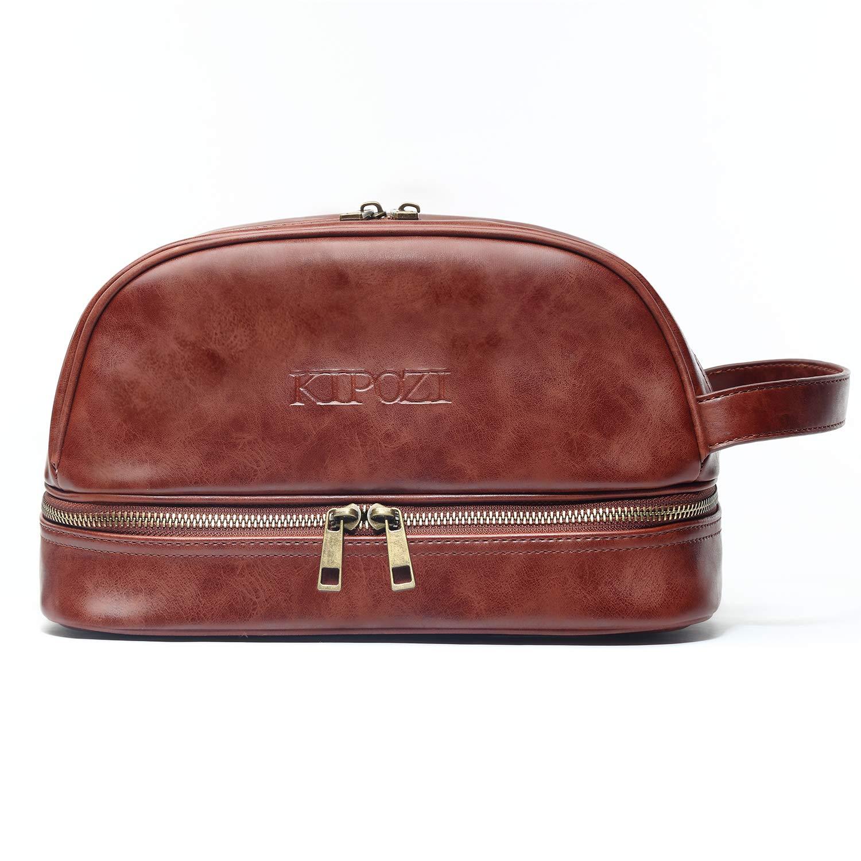 43e56b61145e Amazon.com   KIPOZI PU Leather Travel Bag