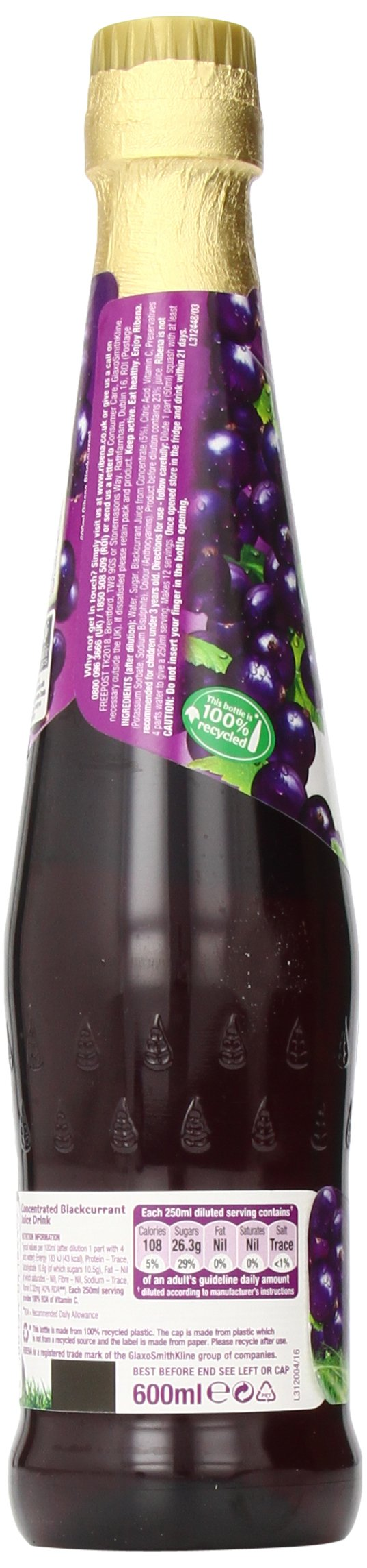 Ribena Original Blackcurrant Drink, 600 ml Bottle (Pack of 12) by Ribena (Image #8)