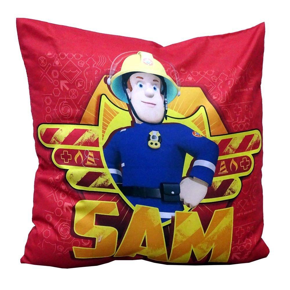 Kissen Kinder Dekokissen Kuschelkissen Sam 40x40cm Feuerwehrmann Sam