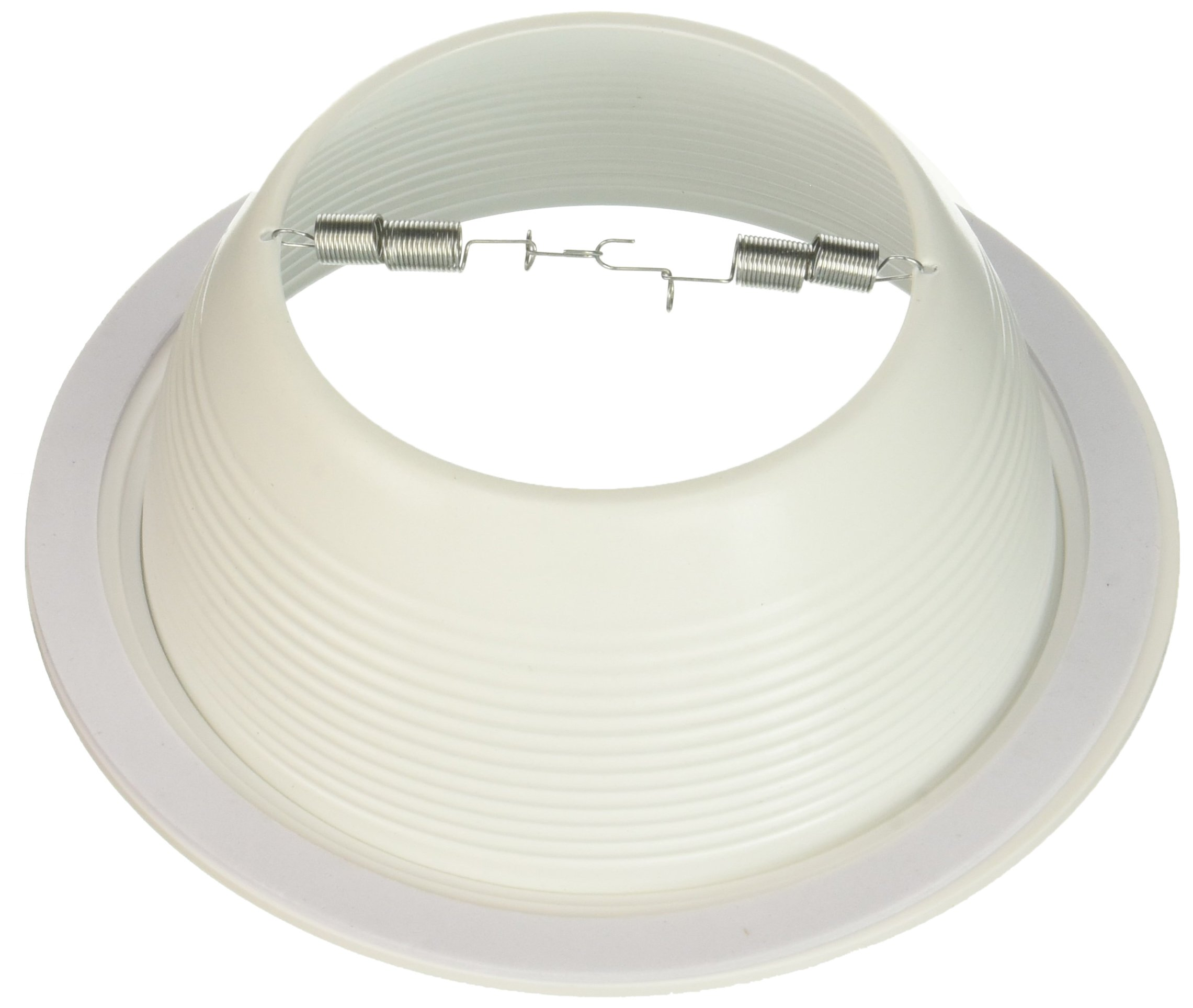 Four-Bros Lighting SB30/WHT Baffle Trim 6'' White Ring for 6'' Recessed Can Lighting-Replaces BR30/PAR30/R30