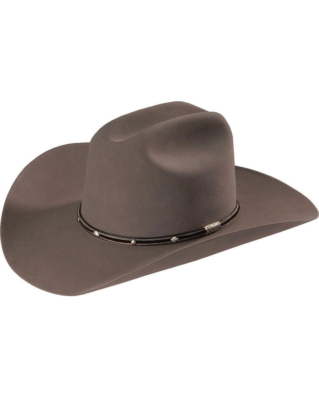 Stetson Men's Angus 6X Fur Felt Western Hat Grey 7 3/8