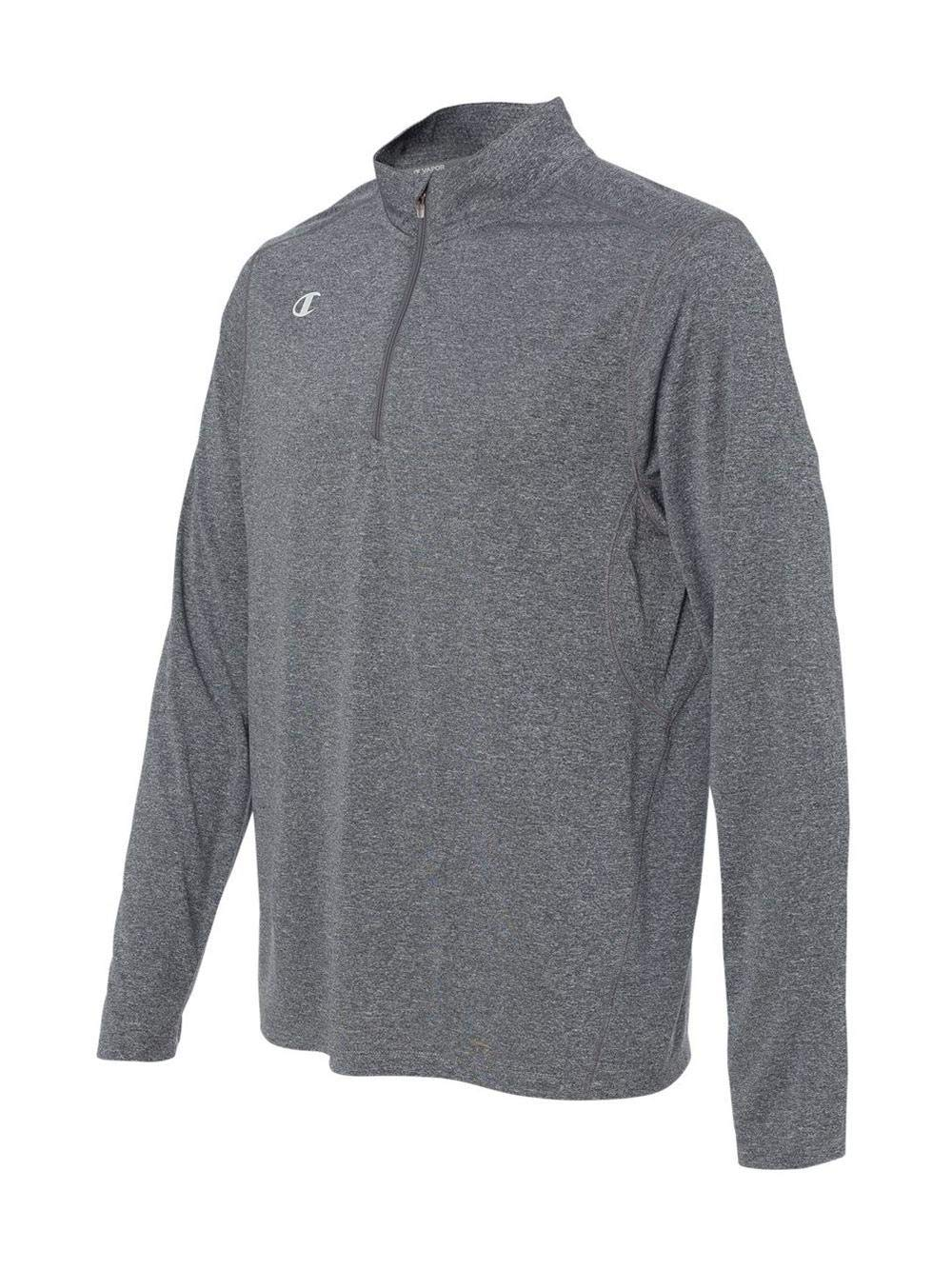 Champion Men's Quarter-Zip Double Dry Pullover, Slate Grey Heather, Small by Champion