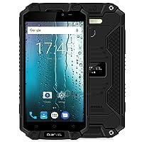 OUKITEL K10000 Max 5.5 Inch 4G Phablet Android 7.0 MTK6753 Octa Core 1.5GHz 3GB RAM 32GB ROM Sensor de huellas digitales OTG Cameras 10000mAh Battery (Negro)