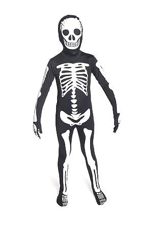 Amazon.com: Morphsuits Glow In The Dark Skeleton Kids Halloween ...