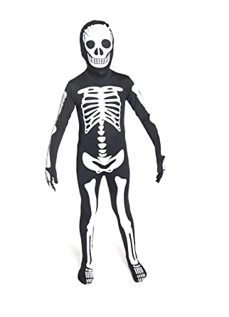 Morphsuits Glow in The Dark Skeleton Kids Halloween Costume - Small  sc 1 st  Amazon.com & Amazon.com: Morphsuits Glow in The Dark Skeleton Kids Halloween ...