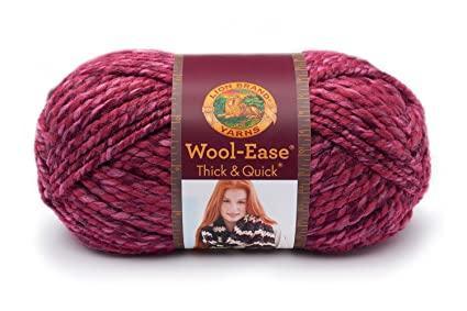59c01610712d Amazon.com  Lion 640-525 Wool-Ease Thick   Quick Yarn