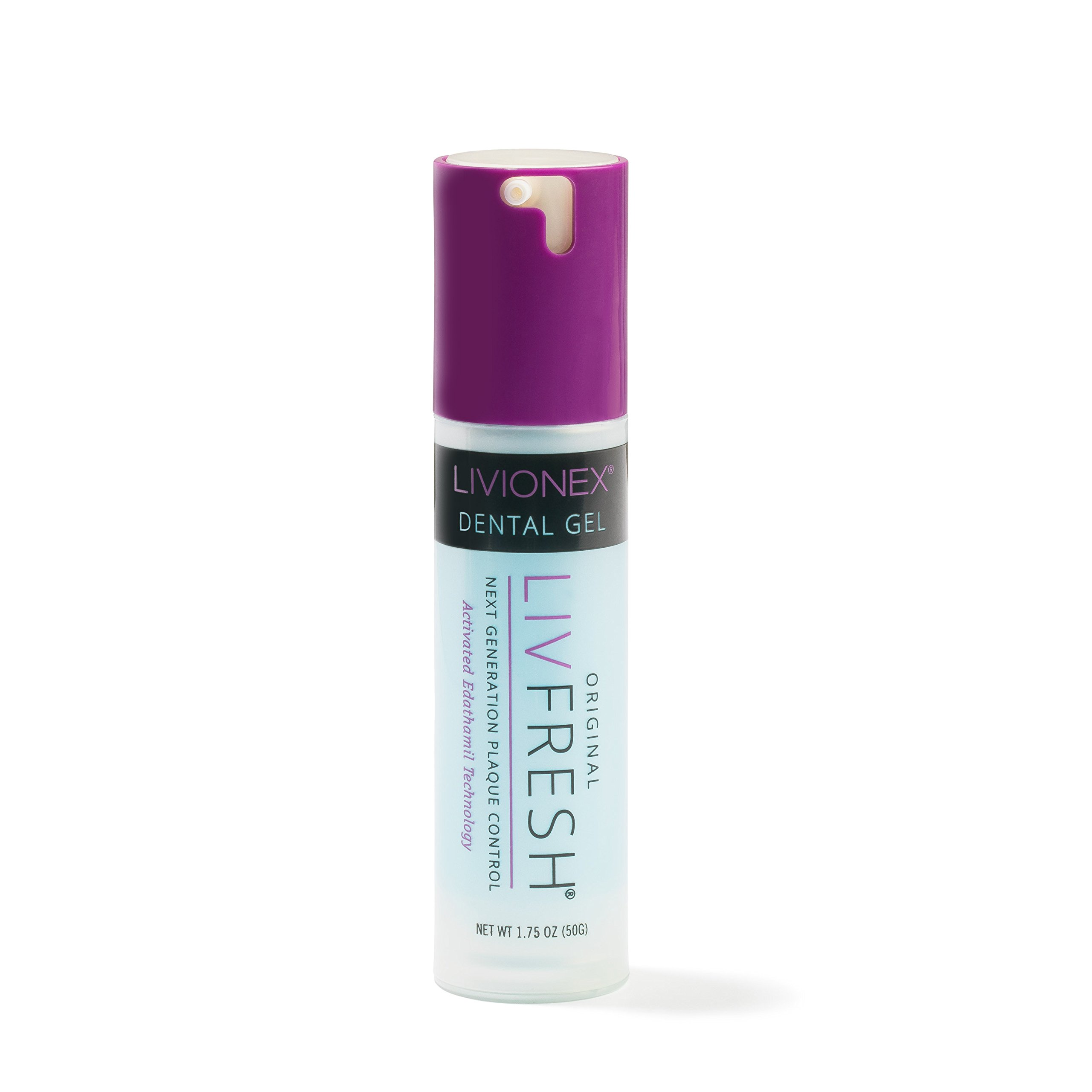 LIVFRESH Dental Gel- Cleans Teeth Better; Prevents Bad Breath; From Livionex; Peppermint Flavor; Dispensed In a Pump