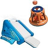 Intex Kool Splash Inflatable Swimming Pool Water Slide & Giant Basketball Hoop