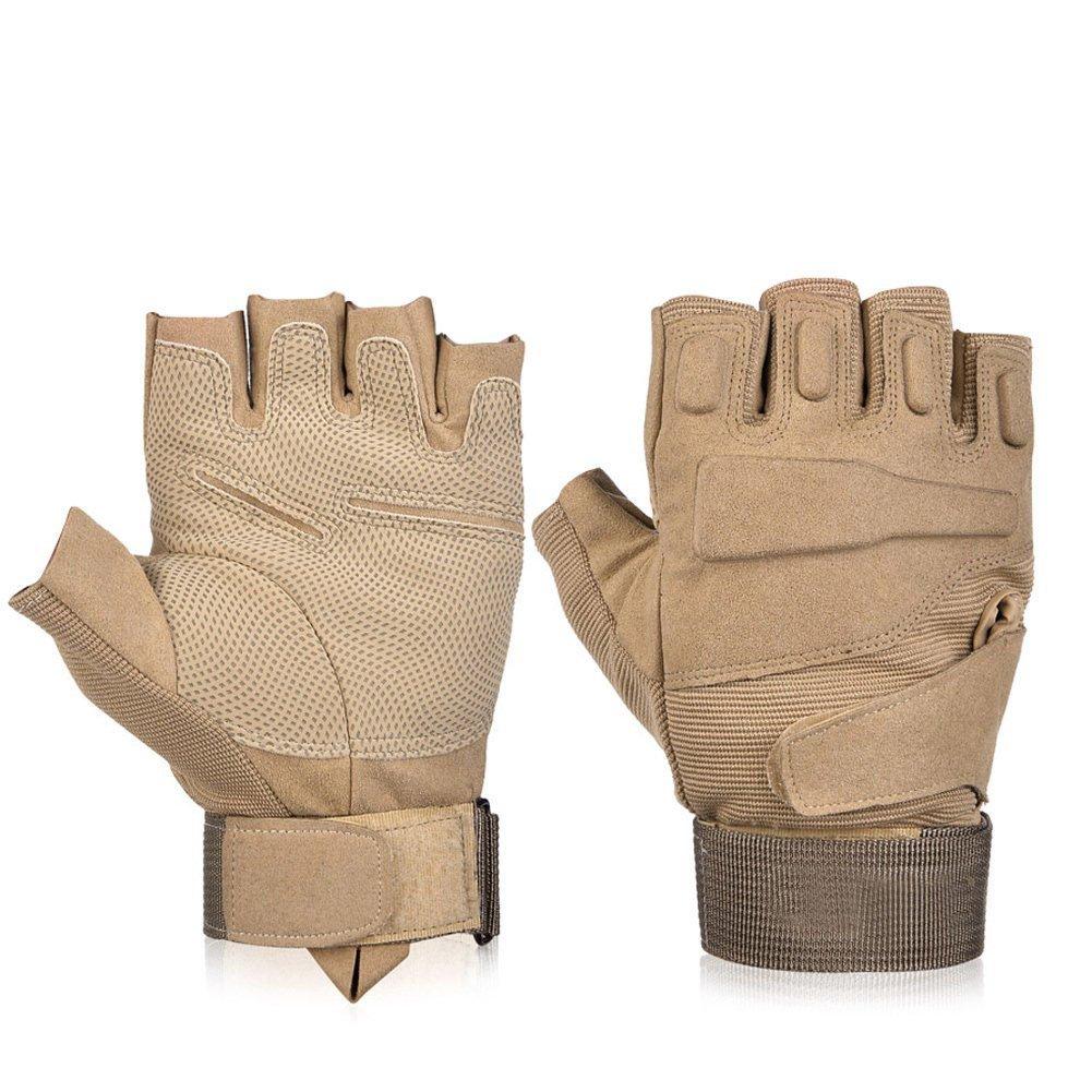 herebuy8タクティカルグローブミリタリー手袋シューティンググローブ指なしhalf-finger Riding狩猟サイクリング手袋   B01M4IR9HB