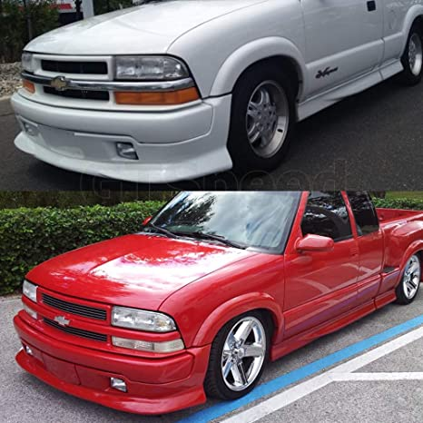 GT-Speed for 1998-2004 CHEVY S10 Pickup Extreme Style PU Front Bumper Lip  Chin Spoiler