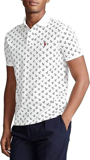 Polo Polo Ralph Lauren Anclas Blanco Hombre Medium Blanco Amazon Es Ropa Y Accesorios