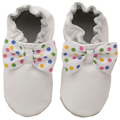 Amazon Com Robeez Soft Soles Party Bow Slip On Infant Toddler