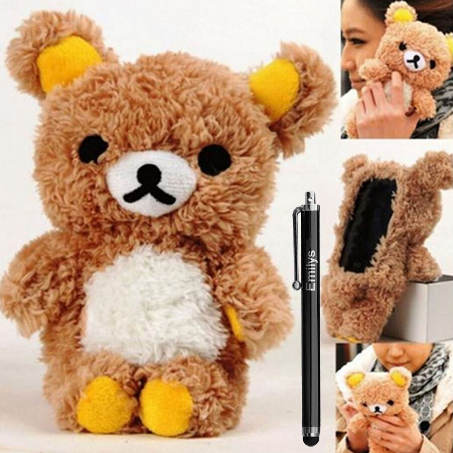 S6 Case,Fusicase Samsung Galaxy S6 case,Fusicase fashion style New Cute 3D Lovely Teddy Bear Doll Toy Cool Plush Fitted Back Phone case Cover for Samsung Galaxy S6 G920F(Brown)