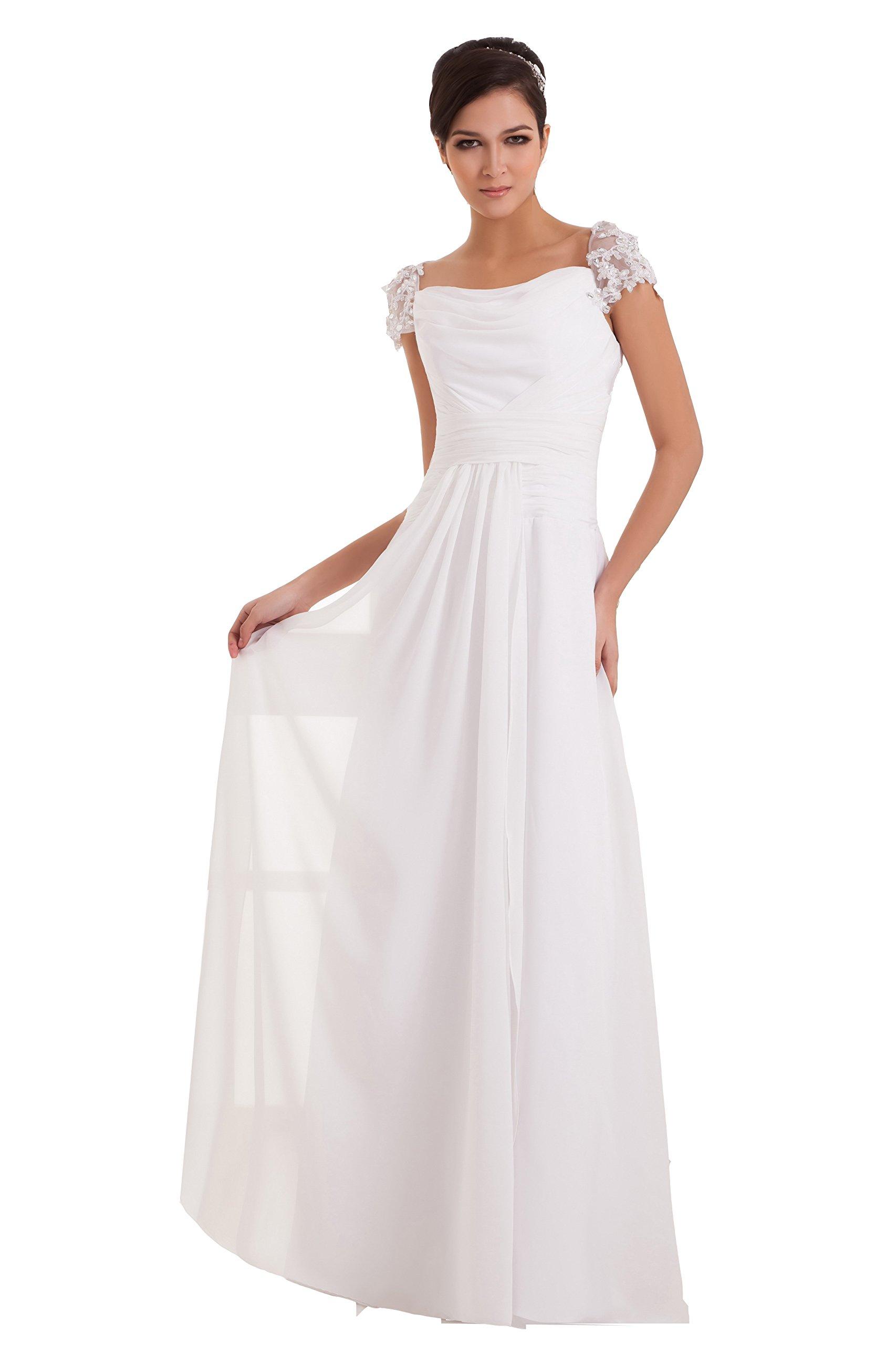 VogueZone009 Womens Square Neck Short Sleeve Pongee Chiffon Soft Mesh Dress, ColorCards, 18W by VogueZone009