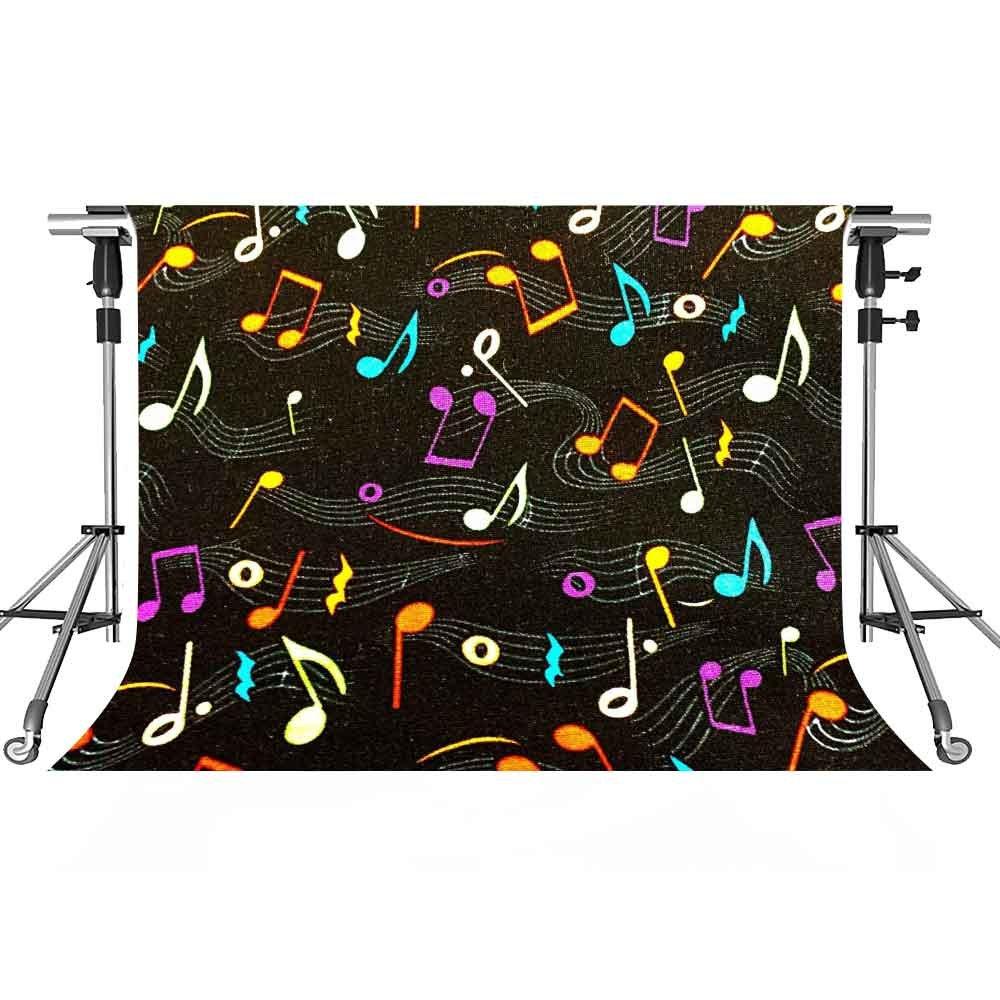 音楽ステージバックドロップColoredノート写真背景meetsioy 7 x 5ftテーマパーティー写真ブースYoutube Backdrop gemt1298   B07FY3DM1D