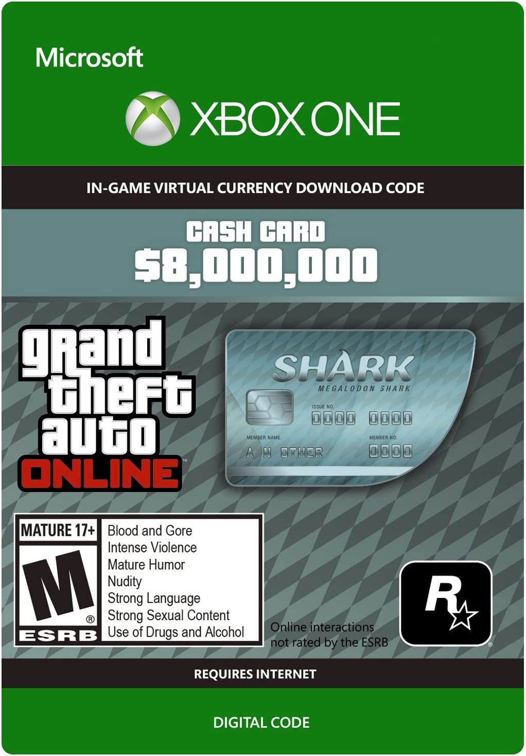 Amazon.com: Grand Theft Auto V: Great White Shark Cash Card - Xbox ...