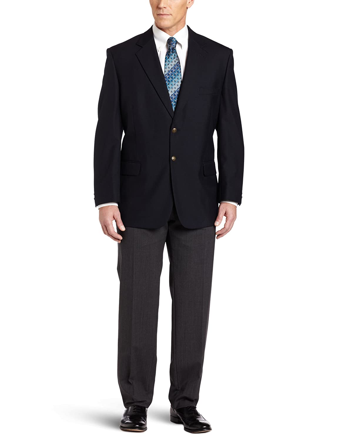 Haggar Men's Big & Tall Two-Button Center-Vent Hopsack Blazer Haggar Men's Bottoms HJ00129P
