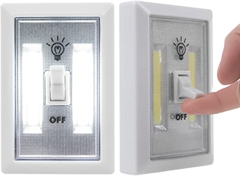 WO/_ KF/_ EB/_ Wireless Closet COB LED Wall Switch Night Light Cordless Battery Ope
