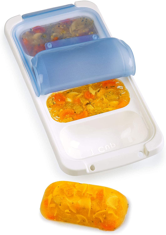 PrepWorks Freezer Pod, 1 Cup, White/Blue