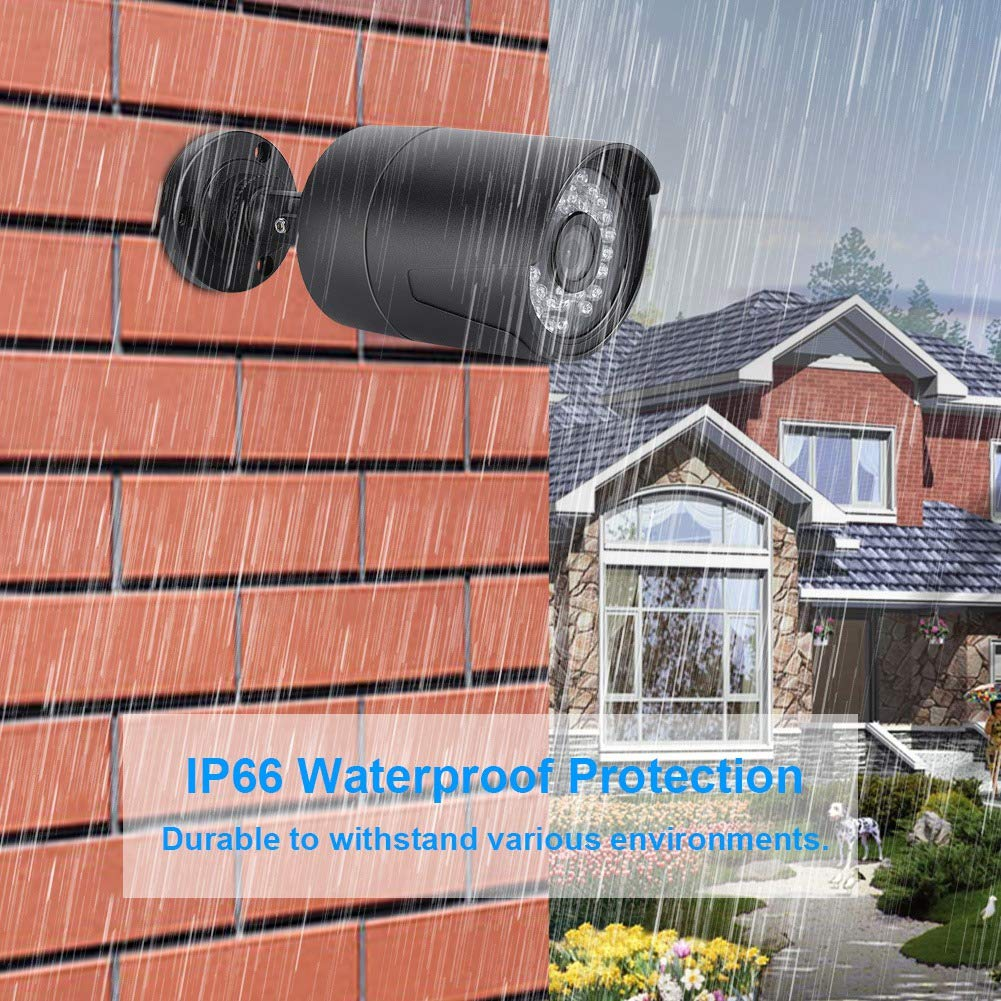 AHD Bullet CCTV Analog Camera 2.0MP IR-Cut Motion Detection 36 IR Night Vision IP66 Weatherproof Surveillance Camera for Home Security