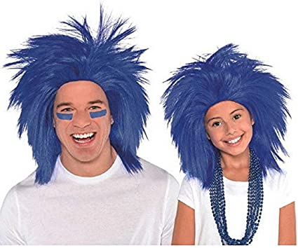 Black Amscan Crazy Party Wig Costume