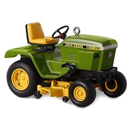 John Deere 318 >> Hallmark Keepsake John Deere 318 Garden Tractor Christmas Holiday Ornament